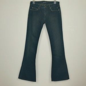 EARL JEANS Low Down Boot Flare Size 26 Dark Wash